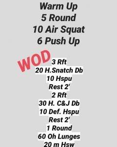 Wod Giovedì 26/03/2020 – Workout dal programma avanzato!
